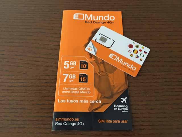 OrangeプリペイドSIMカード