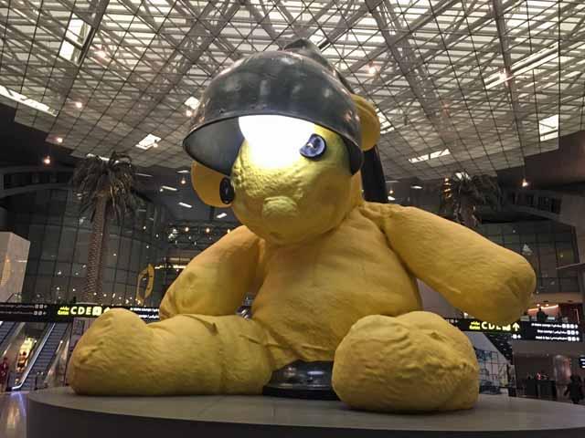 ドーハ国際空港で撮影