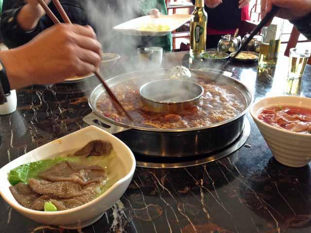 成都で食べた火鍋成都で食べた火鍋