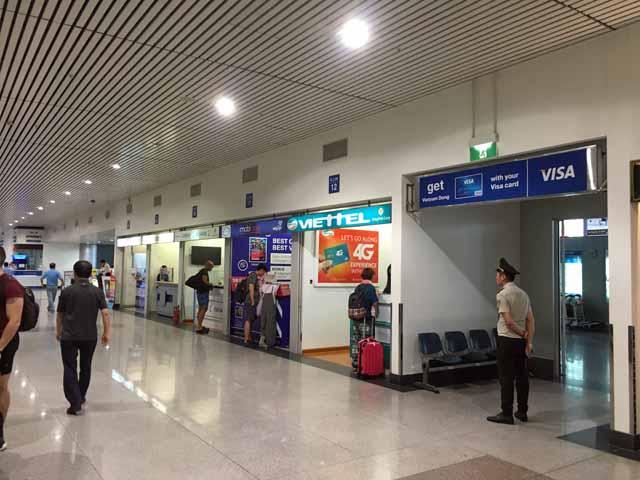 ホーチミン空港のSIMカード売り場