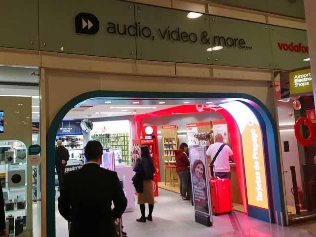VodafoneのプリペイドSIMカードが買える場所