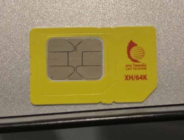 Lao TelecomのプリペイドSIMカード