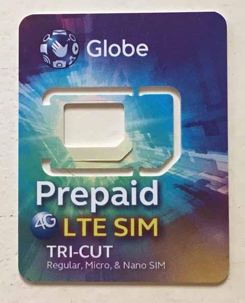 Globe(グローブ)プリペイドSIMカード