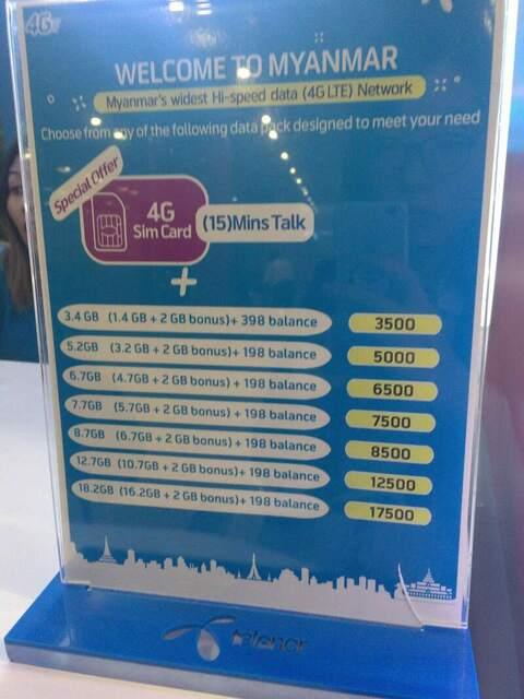 telenorのプリペイドSIMカードの料金表