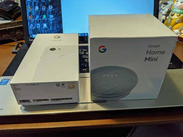 Google Pixel3aとGoogle home mini
